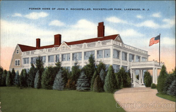Former Home of John D. Rockefeller Lakewood New Jersey