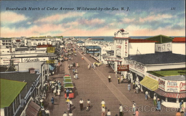 Boardwalk North of Cedar Avenue Wildwood-by-the-Sea New Jersey