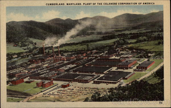 Plant of the Celanese Corporation of America Cumberland Maryland