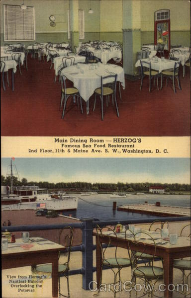 Herzog's Famous Sea Food Restaurant Washington District of Columbia