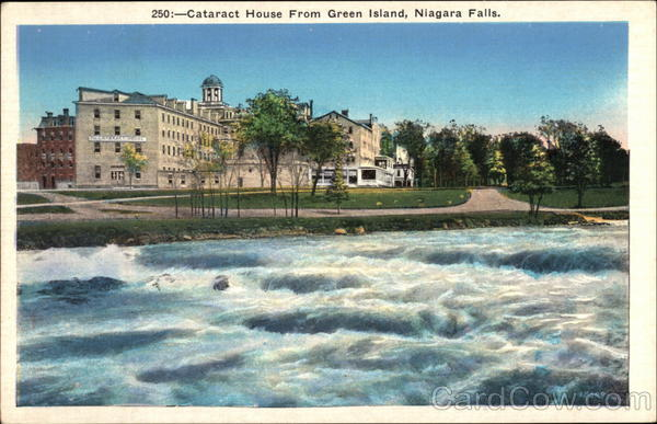 Cataract House from Green Island Niagara Falls New York