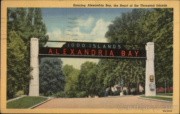 Entering Alexandria Bay, the heart of the Thousand Islands New York