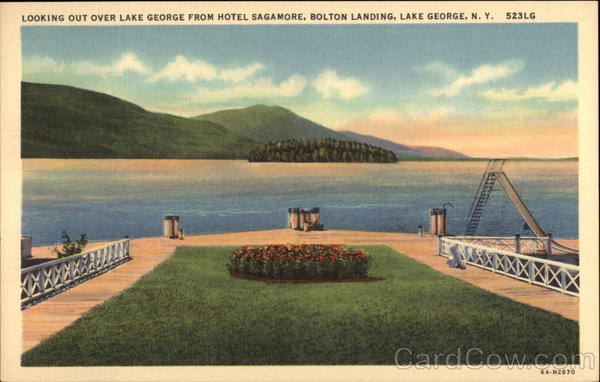 Looking Out Over Lake George from Hotel Sagamore, Bolton Landing New York