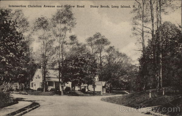 Intersection of Christian Avenue and Hollow Road, Stony Brook Long Island New York