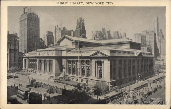 Public Library - 42nd Street and Fifth Avenue New York