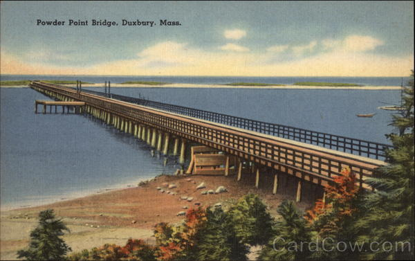 Powder Point Bridge Duxbury Massachusetts