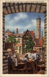 Section of Belgian Village, Chicago World's Fair Postcard