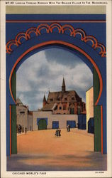 Looking Through Morocco with the Belgian Village in the Background Postcard