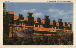 Mayan Temple, Chicago World's Fair Postcard