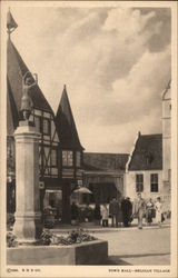 Town Hall-Belgian Village Postcard