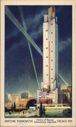 Havoline Thermometer, Chicago World's Fair Postcard