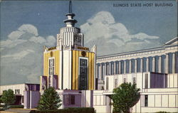 Illinois State Host Building Postcard
