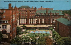 Hotel de Soto Court, showing pool and miniature golf course