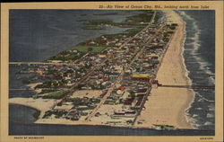 Air View of Ocean City Postcard
