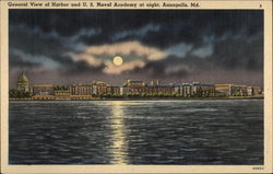 General View of Harbor and U. S. Naval Academy at Night