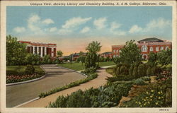 Campus view, showing Library and Chemistry Building, A&M College