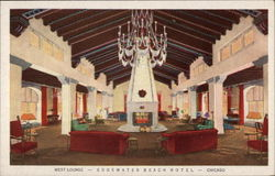 Edgewater Beach Hotel - West Lounge Postcard