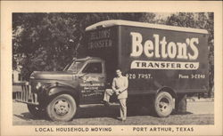 Belton's Transfer Company Truck and Driver