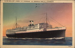 Clyde-Mallory Lines - SS Cherokee, SS. Seminole and SS Algonquin