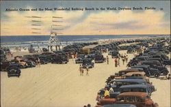 Atlantic Ocean and the Most Wonderful Bathing Beach in the World Postcard