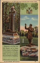 Monuments of the New York Irish Brigade and Father Corby