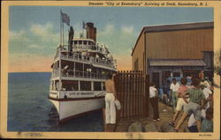 """City of Keansburg"" Steamer Arriving at Dock"