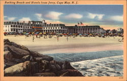 Bathing Beach and Hotels From Jetty