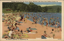 Bathing Beach from Life Guard Station, Shawnee Lake State Park