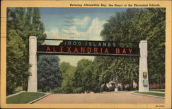 Entering Alexandria Bay, the heart of the Thousand Islands