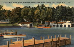 Lamb's Boat House, Public Docks, and Tennis Courts, Bolton Landing