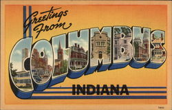 Greetings from Columbus Postcard