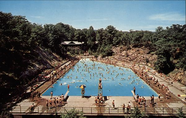 Swimming pool bear mountain state park ny for Bears in swimming pool new jersey