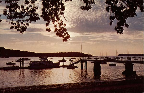 Sunset on Northport Harbor Long Island New York