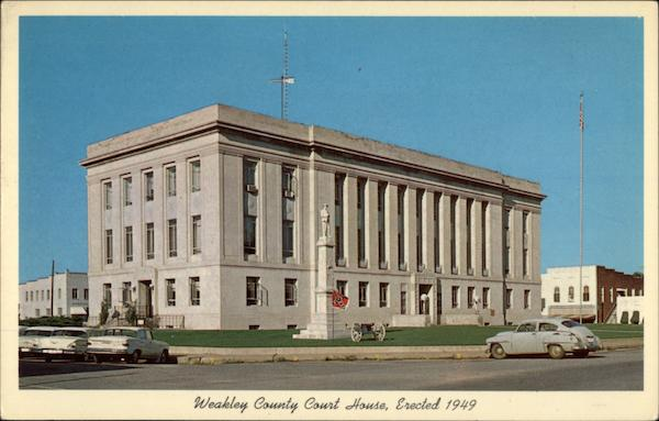 Weakley County Court House Dresden Tennessee