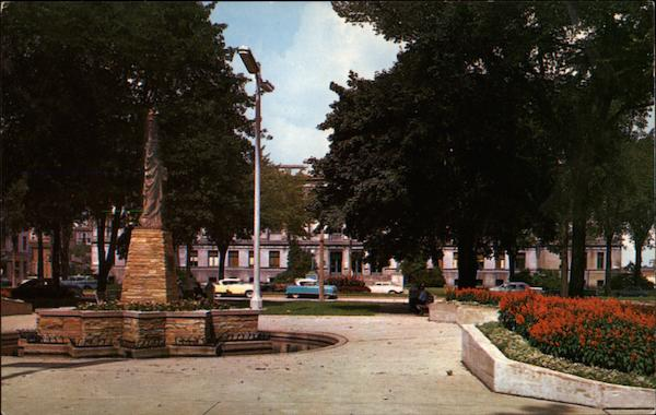 Civic Center Park - Boy Scouts Monument and Court House Kenosha Wisconsin