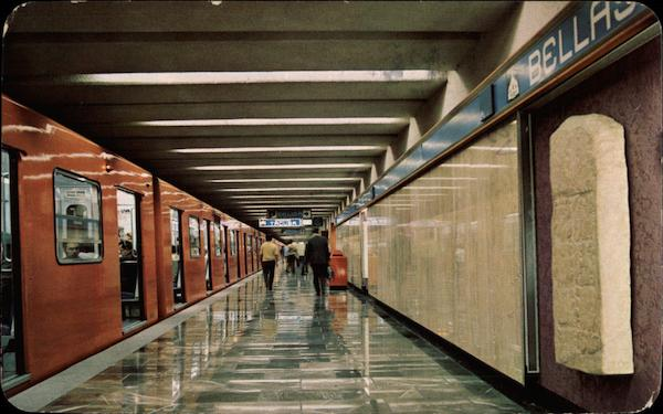 The Bellas Artes Station on line 2 of the Metro Mexico City