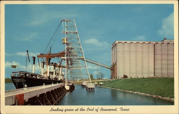 Loading grain at the Port of Beaumont Texas