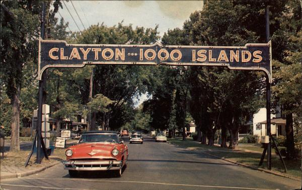 Entrance to Clayton Vintage Post Card