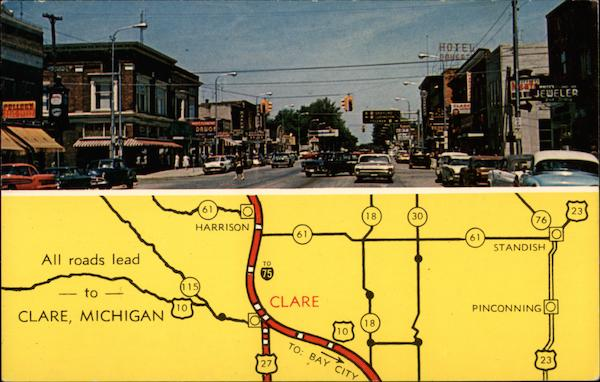 Street View and Map Clare Michigan