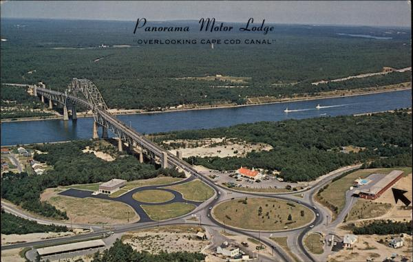 Panorama Motor Lodge, Overlooking Cape Cod Canal Bourne Massachusetts
