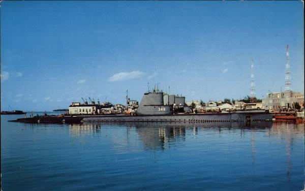 The U.S. Navy Submarine Base Key West Florida