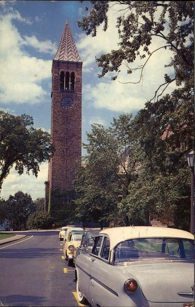 Cornell University - Library Clock Tower Ithaca New York