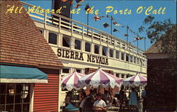 """All-Aboard"" at the Ports O'Call Postcard"