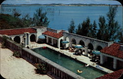 Swimming Pool at Castle Harbour Hotel Postcard