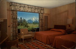 Guest Room, Jackson Lake Lodge Postcard