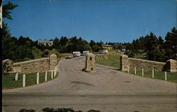 Entrance Gates to Alexander Graham Bell Museum in beautiful Baddeck Postcard