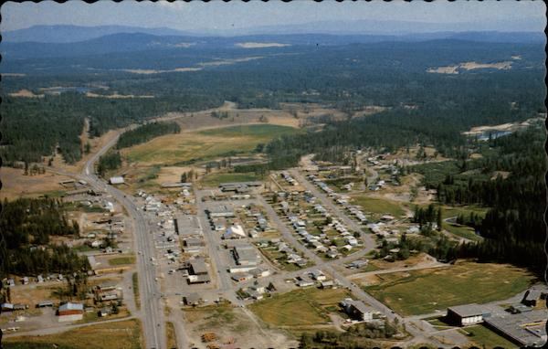Aerial Of 100 Mile House British Columbia Canada