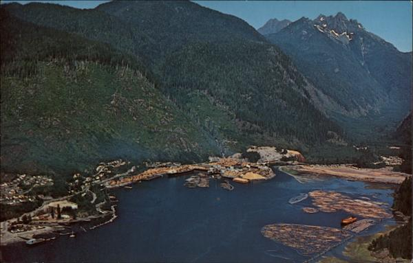 Aerial View of Tahsis Company Ltd.'s Sawmill Canada