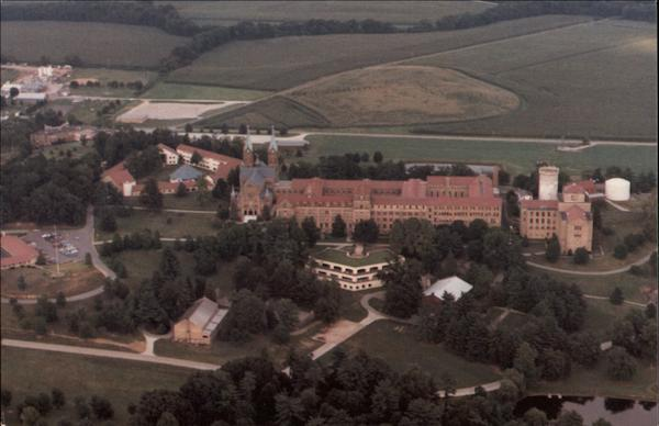 Aerial View of Saint Meinrad Archabbey and Seminary St. Meinrad Indiana