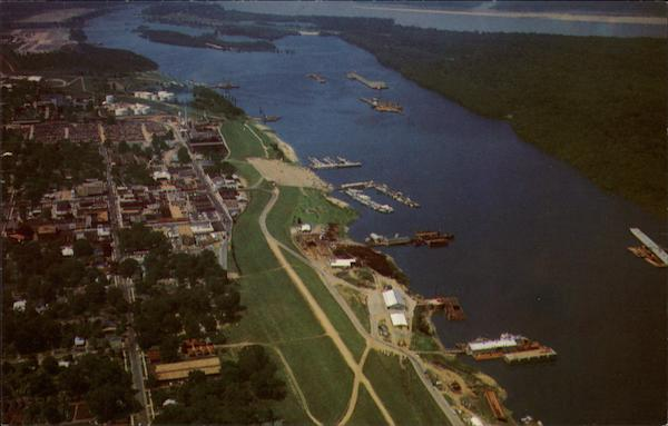 Aerial View of the Port Greenville Mississippi